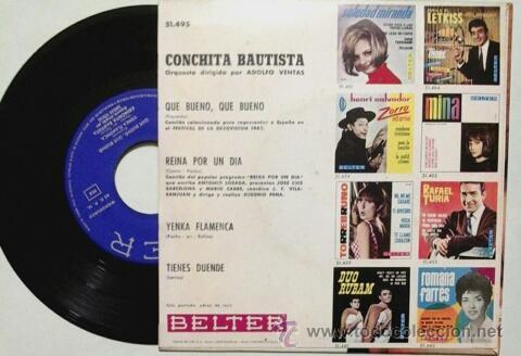 Discos de vinilo: CONCHITA BAUTISTA -EP- QUE BUENO QUE BUENO OR SPAIN 60'S - Foto 2 - 54066727