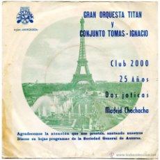 Discos de vinilo: GRAN ORQUESTA TITAN / CONJUNTO TOMÁS-IGNACIO - CLUB 2000 - EP SPAIN 1976 - LUYTOM FM-73-1023. Lote 54082997