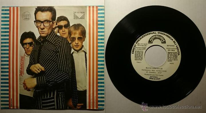 Discos de vinilo: ELVIS COSTELLO - WATCHING THE DETECTIVES / BLAME IT ON CAINE / MYSTERY DANCE (EP PROMO 1978) - Foto 2 - 54085113