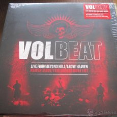 Discos de vinilo: VOLBEAT - LIVE FROM BEYOND HELL / ABOVE HEAVEN - LP TRIPLE VERTIGO 2011 NUEVO. Lote 54092097
