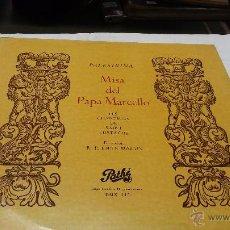 Discos de vinilo: LP MISA DEL PAPA MARCELLO - PALESTRINA- DIRECCION R.P.EMILE MARIN. Lote 54097931