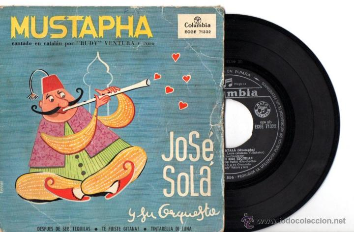 JOSÉ SOLÁ Y SU ORQUESTA : MUSTAPHA - MUSTAFÀ CATALÀ + 3 (Música - Discos de Vinilo - EPs - Grupos Españoles 50 y 60)