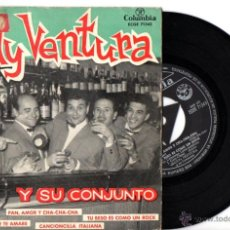 Discos de vinilo: RUDY VENTURA Y SU CONJUNTO : PAN, AMOR Y CHA CHA CHÁ + 3. Lote 54098512