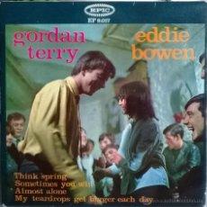 Discos de vinilo: GORDAN TERRY & EDDIE BOWEN. THINK SPRING/ SOMETIMES YOU WIN/ ALMOST ALONE/ MY TEARDROPS. EPIC 1965. Lote 54106228