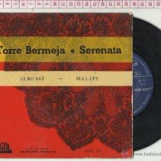Discos de vinilo: 11.121 DISCO VINILO SINGLE ORQUESTA SINFÓNICA ESPAÑOLA, TORRE BERMEJA, SERENATA , ALBENIZ. Lote 54114729