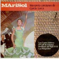 Discos de vinilo: MARISOL: INTERPRETA A GARCIA LORCA, LOS CUATRO MULEROS + CAFÉ DE CHINITAS +LOS PELEGRINOS +1. Lote 54115741
