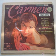 Discos de vinilo: BIZET (CARMEN). Lote 54117260