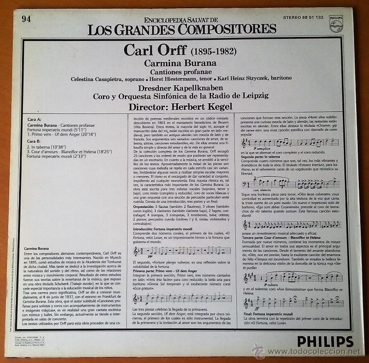 Carl orff  carmina burana  salvat grandes compo - Sold at