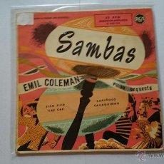 Discos de vinilo: EMIL COLEMAN Y SU ORQUESTA (SAMBAS) - TICO TICO / CAE, CAE / CARIÑOSO / CAVAQUINHO (EP 1960). Lote 54126134