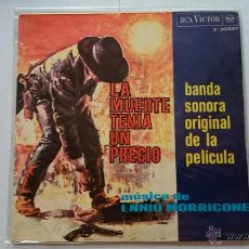Dischi in vinile: ENNIO MORRICONE (BSO 'LA MUERTE TENIA UN PRECIO') - LA MUERTE TENIA UN PRECIO + 3 (EP 1966). Lote 54128399