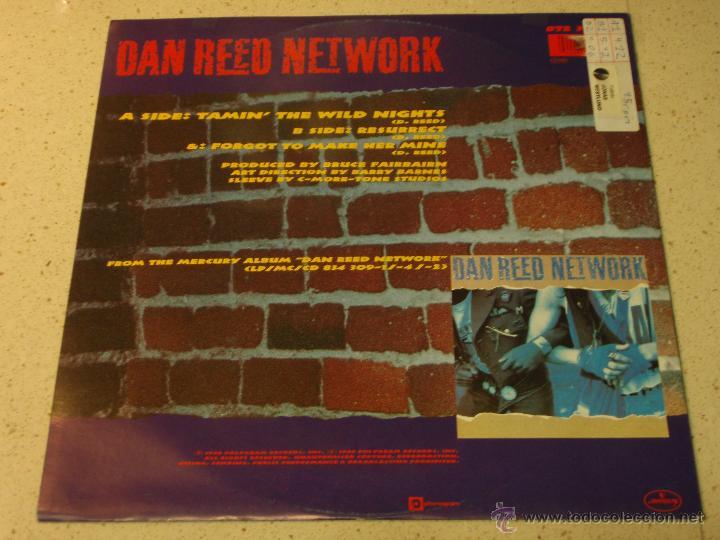Discos de vinilo: DAN REED NETWORK ( TAMIN THE WILD NIGHTS - RESURRECT - FORGOT TO MAKE HER MINE ) 1988-HOLANDA MAXI - Foto 2 - 54138646