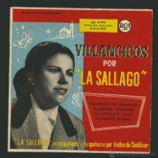 Discos de vinilo: VILLANCICOS POR LA SAGALLO.-EP RCA.1958. Lote 54139052