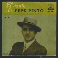 Discos de vinilo: EL CANTE DE PEPE PINTO Nº 8.-EP LA VOZ DE SU AMO.1965. Lote 54139391