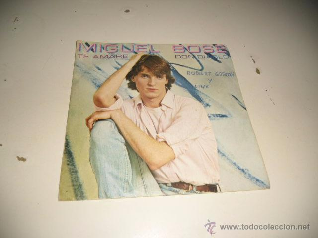 ARM-1 7 PULGADAS DISCO CHICO SOLO CARATULA SIN EL DISCO MIGUEL BOSE TE AMARE (Música - Discos - Singles Vinilo - Otros estilos)