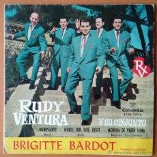Discos de vinilo: RUDY VENTURA Y SU CONJUNTO. BRIGITTE BARDOT. EP. COLUMBIA. 1961.. Lote 54141268