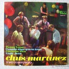 Discos de vinilo: CHUS MARTINEZ Y SU CONJUNTO.PENNY LANE + 3...EX. Lote 54142325