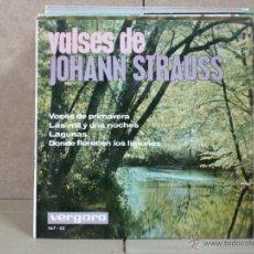 Discos de vinilo: JOHANN STRAUSS - VALSES DE JOHANN STRAUSS - VERGARA 167-XC - 1964. Lote 54149731