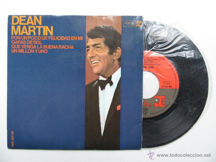 Usado, DEAN MARTIN * PON UN POCO DE FELICIDAD EN MI * GAFAS DE SOL +2 * EP 1967 segunda mano
