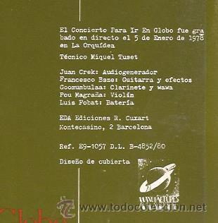 Discos de vinilo: LP MACROMASSA : EL CONCIERTO PARA IR EN GLOBO (EXPERIMENTAL ELECTRONICA AVANTGARDE - Foto 3 - 54157926