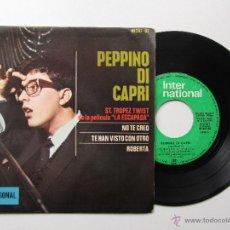 Discos de vinilo: PEPPINO DI CAPRI * ST TROPEZ TWIST * NO TE CREO * TE HAN VISTO CON OTRO * ROBERTA * EP 1964. Lote 54158603