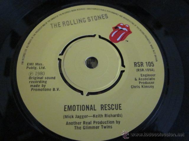 Discos de vinilo: THE ROLLING STONES - EMOTIONAL RESCUE - SN - EDICION INGLESA DEL AÑO 1980. - Foto 3 - 54159908