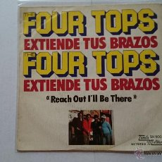 Discos de vinilo: THE FOUR TOPS - REACH OUT I'LL BE THERE (EXTIENDE TUS BRAZOS) / BERNADETTE (REEDIC. 1975). Lote 54161064