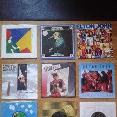 Discos de vinilo: ELTON JOHN LOTE COLECCION DE 27 SINGLES 7´´ NIKITA CANDLE IN THE WIND YOUR SONG KISS THE BRIDE. Lote 53080191