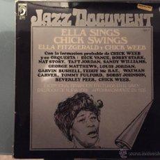 Discos de vinilo: ELLA FITZGERALD Y CHICK WEEB: ELLA SINGS, CHICK SWINS. Lote 54169953