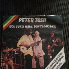 Discos de vinilo: PETER TOSH - (YOU GOTTA WALK) DON'T LOOK BACK - SINGLE 1978 ROLLING STONES. Lote 54170934