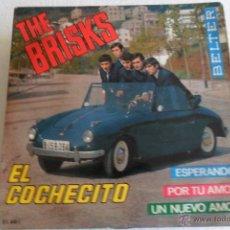 Discos de vinilo: THE BRISKS - EL COCHECITO + 3 EP 1965. Lote 54180192