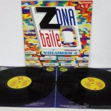 Disques de vinyle: ZONA DE BAILE VOL 4 - 2 LP - GASA 1993 - PAT KRIMSON / TAMBOURINES / SPOOK / FANGORIA. Lote 228101100