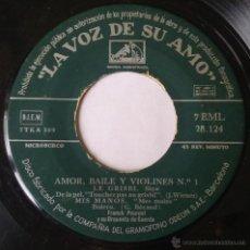 Discos de vinilo: FRANCK POURCEL. AMOR, BAILE Y VIOLINES Nº1. EP. LA VOZ DE SU AMO. VINILO SIN PORTADA.. Lote 54182605