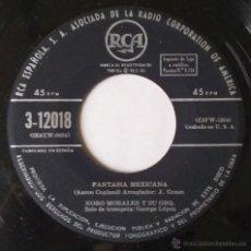 Discos de vinilo: NORO MORALES Y SU ORQUESTA. FANTASIA MEXICANA...SENCILLO. RCA. VINILO SIN PORTADA.. Lote 54184362