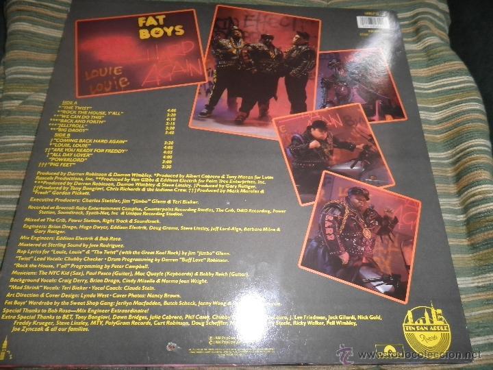 Discos de vinilo: FAT BOYS - COMMIMNG BACK HARD AGAIN LP - ORIGINAL INGLES - TIN PAN APPLE / POLYDOR 1988 MUY NUEVO 5 - Foto 2 - 54194164