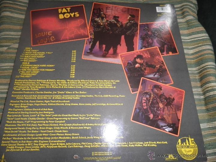 Discos de vinilo: FAT BOYS - COMMIMNG BACK HARD AGAIN LP - ORIGINAL INGLES - TIN PAN APPLE / POLYDOR 1988 MUY NUEVO 5 - Foto 17 - 54194164