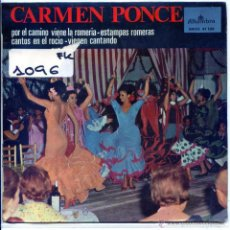 Discos de vinilo: CARMEN PONCE (SEVILLANAS) / ESTAMPAS ROMERAS + 3 (EP 1966). Lote 54203335