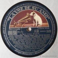 Discos de vinilo: MUSICA PARA BAILAR. LA VOZ DE SU AMO. LP. LCLP 103. DISCO SIN PORTADA.. Lote 54205298