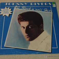 Discos de vinilo: JOHNNY RIVERS - 20 ROCK 'N' ROLL HITS, SWEDEN 1971 LP UNITED ARTISTS RECORDS. Lote 54208007