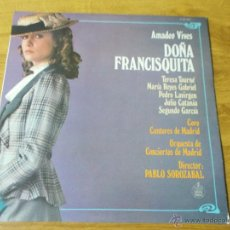 Discos de vinilo: DOÑA FRANCISQUITA. AMADEO VIVES.. Lote 54208961