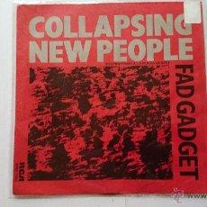 Discos de vinilo: FAD GADGET - COLLAPSING NEW PEOPLE / SPOIL THE CHIL (1984). Lote 54211675