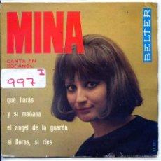 Discos de vinilo: MINA (EN ESPAÑOL) / EL ANGEL DE LA GUARDA / SI LLORAS, SI RIES + 2 (EP 1965). Lote 54220185
