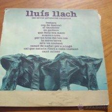 Discos de vinilo: LLUÍS LLACH, LES SEVES PRIMERES CANÇONS. (EDGSA-1976) LP . Lote 54223643