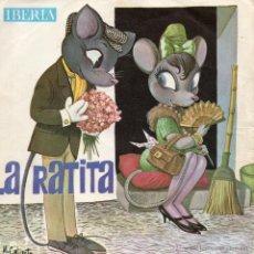 Discos de vinilo: LA RATITA - CUENTO INFANTIL, EP, LA RATITA + 1, AÑO 1964. Lote 54230859