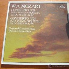 Discos de vinilo: LP W. A. MOZART. CONCIERTO PARA PIANO Y ORQUESTA Nº 21 Y 24 DE 1981. Lote 54237385