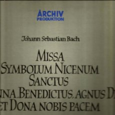 Discos de vinilo: CAJA BACH : MISSA SYMBOLUM NICENUM SANCTUS ( CORO Y ORQUESTA DE MUNICH, KARL RICHTER). Lote 54247272
