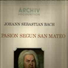 Discos de vinilo: CAJA BACH : LA PASION SEGUN SAN MATEO ( ORQUESTA BACH DE MUNICH ). Lote 54247301