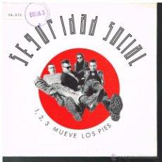 Discos de vinilo: SEGURIDAD SOCIAL - 1,2, 3 MUEVE LOS PIES / EL RITMO DE APOSTAR - SINGLE 1990. Lote 262364660