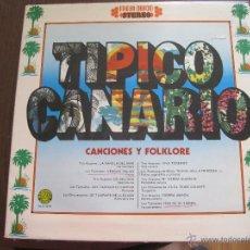 Discos de vinilo: VV.AA. - TÍPICO CANARIO - CANCIONES Y FOLKLORE - LP ARIES 1976. Lote 54252709