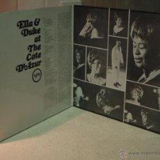 Discos de vinilo: ELLA FITZGERALD AND DUKE ELLINGTON ( ELLA & DUKE AT THE CÔTE D'AZUR ) 2XLP33 HOLANDA VERVE. Lote 270677833