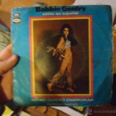 Discos de vinilo: PEQUEÑO DISCO SINGLE - BOBBIE GENTRY CANTA EN ESPAÑOL. Lote 54255941